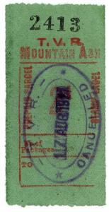 (I.B) Taff Vale Railway : Prepaid Parcel 2d (Mountain Ash)
