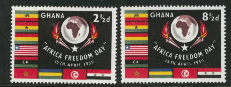 GHANA Scott 46-47 MNH** 1959 flag set