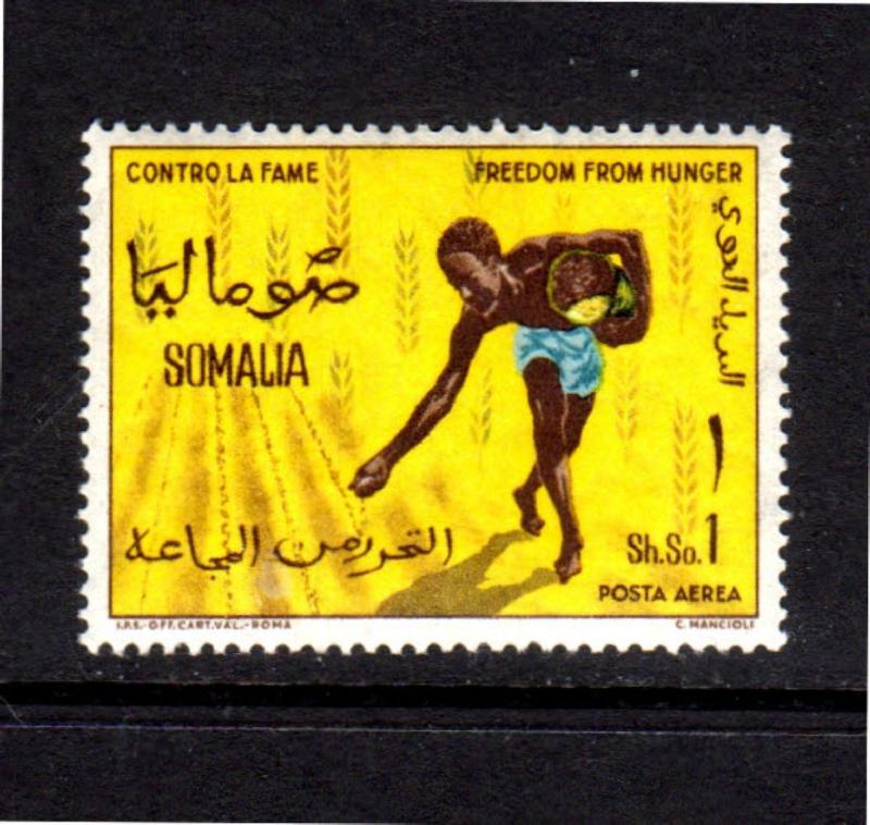 SOMALIA #C89   1963  FREEDOM FROM HUNGER  MINT VF NH  O.G