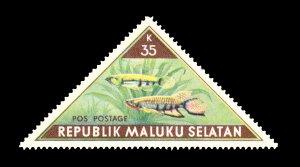 REPUBLIC OF SOUTH MALUKU STAMP. TOPIC: FISH. UNUSED. ITEM 35K