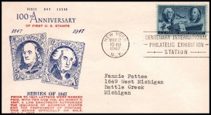 US 947 Postage Stamp WCO Typed FDC