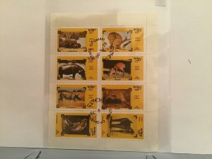 State of Oman Wild life   of Africa 1973  stamps Sheet R23509