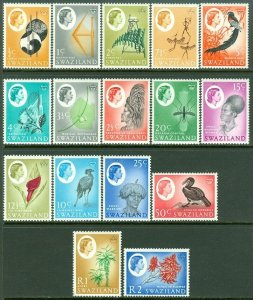 EDW1949SELL : SWAZILAND 1962 Scott #92-107 Complete set. VF, Mint OG VLH Cat $58
