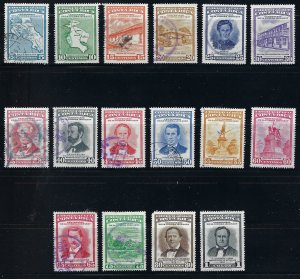 COSTA RICA C256-72 (missing C269) USED SCV $4.45 BIN $1.80 PERSON, MAPS, PLACES