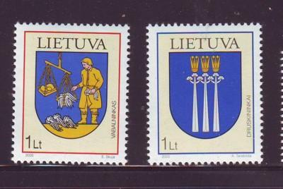 Lithuania Sc788-9 2005 Coats of Arms stamps NH