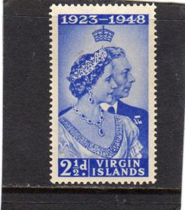 British Virgin Islands 1948 Silver Wedding  MH