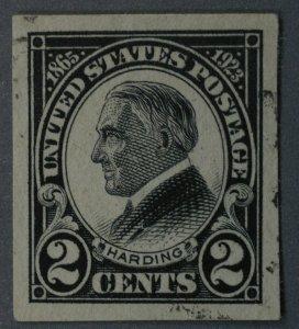 United States #611 2 Cent Harding Imperforate Used VF