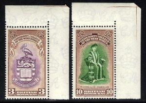British Honduras 1951 KGV1 Set Inaug BWI College Umm SG 176 - 177 ( F1063 )