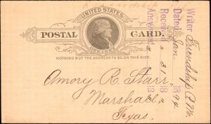TEXAS HARRISON CTY (1894 Friendship) DPO 1872-1905 (Manuscript) (82)