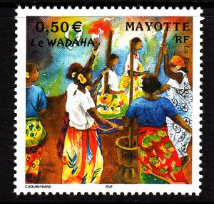 Mayotte MNH Scott #193 50c Wadaha