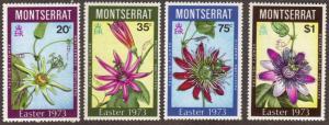 Montserrat #288-91 MH cpl flowers