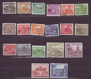 J23171 JLstamps 1949 berlin germany set used #9n42-60 buildings