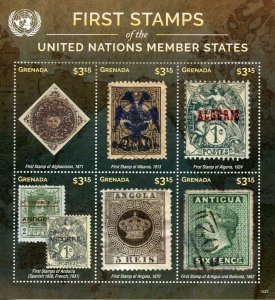 Grenada 2015 MNH First Stamps UN United Nations Member States 6v M/S II