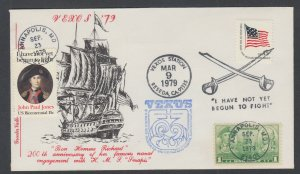 US Pl 1789-F FDC. 1979 15c John Paul Jones, Greater Valley FIRST CACHET