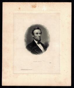ABRAHAM LINCOLN VIGNETTE DIE FROM ABNCo. ARCHIVES W/ PLATE #141 BR814
