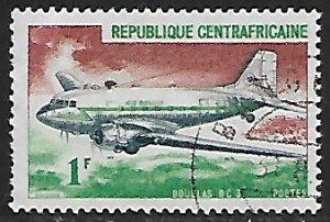 Central African Republic # 93 - Douglas DC3 - used....(BRN8)