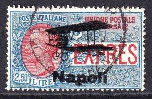 ITALY E8 SCARCE NAPOLI BI-PLANE OVERPRINT CDS F/VF SOUND #1