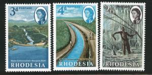 Rhodesia Scott 203-5, SG 354-6 MH* agriculture set