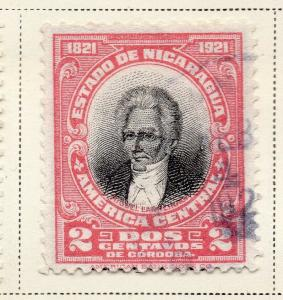 Nicaragua 1921 Early Issue Fine Used 2c. 323645