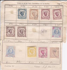 Montegro Small Lot of Older stamps on old Sales Pages