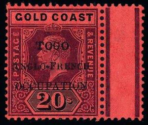Togo Scott 76 Variety 2 Gibbons 46B Mint Stamp