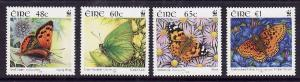 Ireland-Sc#1615-18-unused NH set-Insects-Butterflies-WWF-2005-
