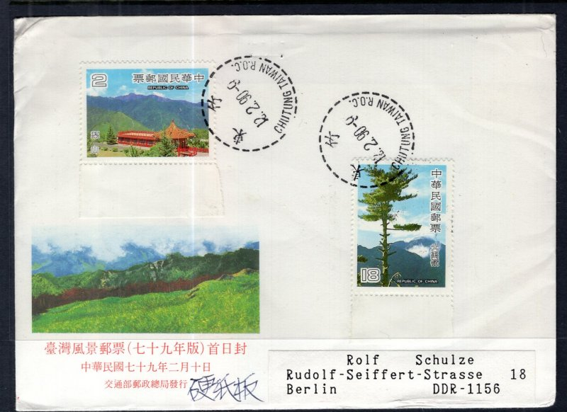 Taiwan to Germany DDR Cover