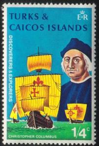 Turks and Caicos Islands#253 - Christoher Columbus - MNH