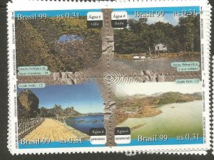 Brazil 1999 Water Set SC 2724 (Price Is For One Block Only) MNH (4czx)
