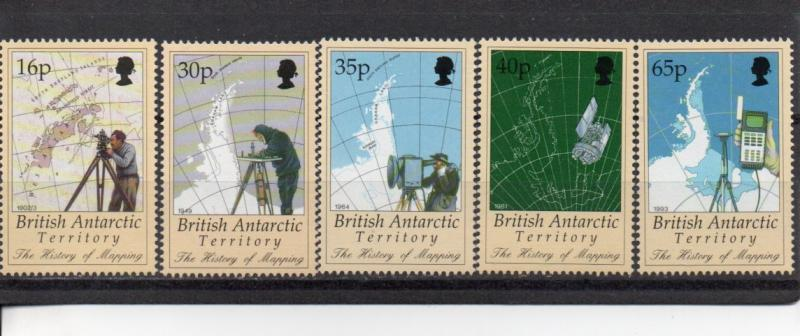 British Antarctic Territory 253-257  MNH