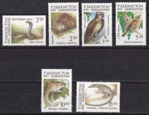 Uzbekistan 1993 Fauna of Uzbekistan MNH**