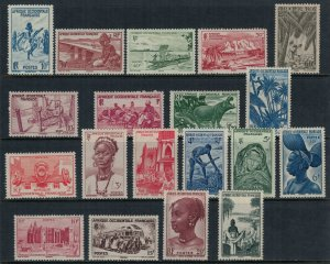 French West Africa #36-54*  CV $20.40