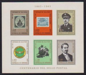 Honduras Airmail # C403a Stamp Centenary VF OG NH Imperf S/S - I Combine S/H