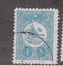 Turkey #154a 10pa bright blue (U) CV  $0.50