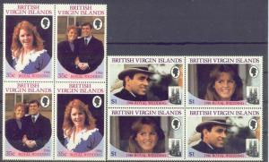 Virgin Isls. 537-40 MNH 1986 Royal Wedding Blocks