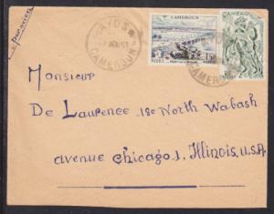 Cameroun Sc 318/327 on 1961 Air Mail Cover to Chicago