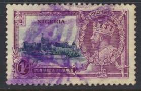 Nigeria  SG 33 SC# 33 Used Silver Jubilee 1935 issue please see scans