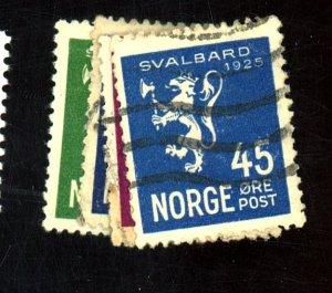 Norway #111-114 Used FVF 113 Pinhole Cat$28