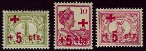 Netherland Indies  SC B1-B3 Mint F-VF SCV$16.25...Worth a Close Look!