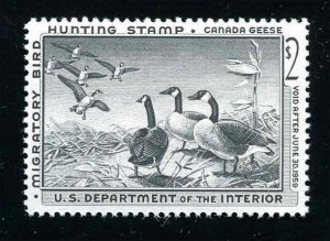 #RW25 Canada Geese 1958 US Federal Duck Stamp Mint Never Hinged