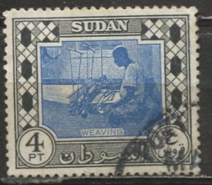 Sudan 1951: Sc. # 108; O/Used Single Stamp   ,    variety world stamps