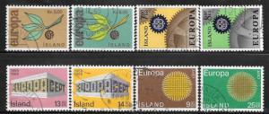 Iceland Europa 375 -76, 389 - 90, 406 - 07, 420 - 21 used 2013 SCV $10.15 -30184