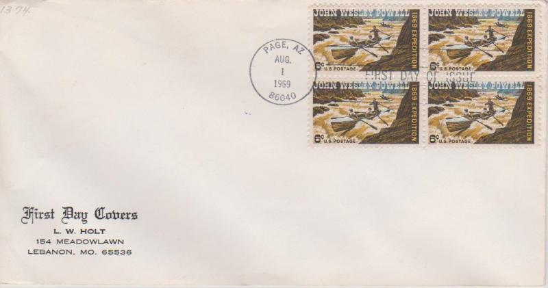 USA 1969 Powell First Day Cover Page Arizona Cancel