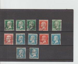 France  Scott#  185-196  Used  (1923-6 Louis Pasteur)