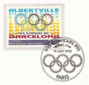 1992 France - FD Card Sc 2295 - Olympic Games, Albertville & Barcelona