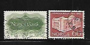 NORWAY, 492-493, USED, BANK