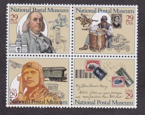 United States # 2782a, National Postal Museum, Block of Four, NH