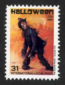 Halloween Topical Intl. Local Post Stamp - MNH - Cinderella