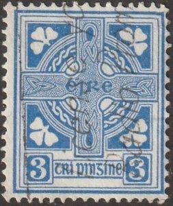 Ireland stamp, Scott#70, used, hinged, 3, blue, # I-70