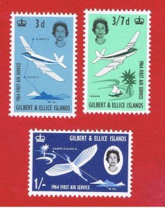Gilbert & Ellice Islands #79-81 MNH OG  Air Service  Free S/H